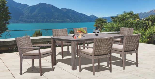 Kingston Casual Outdoor Furniture Lakehouse with rectangle table