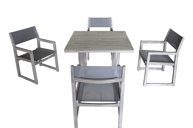 Kingston Casual Outdoor Furniture Bayside Sling Square table