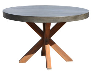 CON401 DT41, X Leg Concrete Top Round Dining Table ...