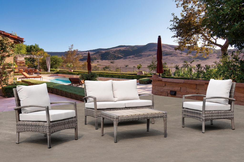 Kingston Casual Outdoor Furniture Kimble 4 pices Chat Seating