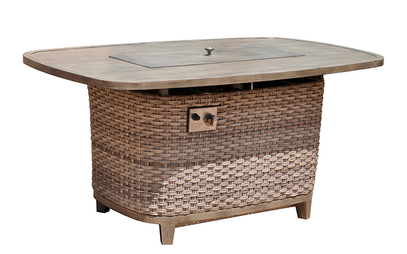 Kingston Casual Outdoor Furniture rectangle-alum-fire-pit-with-woven-base