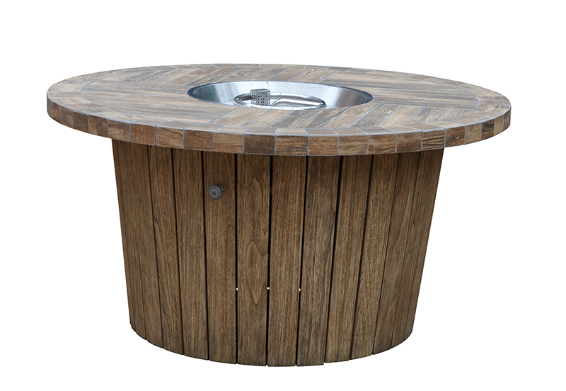 Kingston Casual Outdoor Furniture round-fire-pit-with-fsc-wood-base-honey-combo-concrete-top