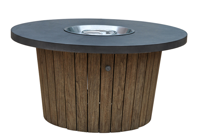 Kingston Casual Outdoor Furniture round-fire-pit-wood-base-honey-combo-concrete-top