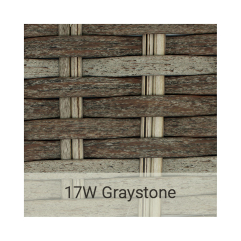 Kingston Casual wicker-17w-graystone