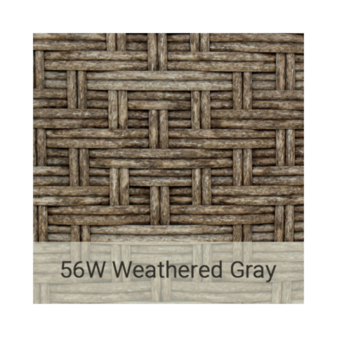 Kingston Casual wicker-56w-weathered gray