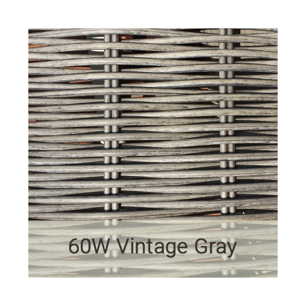 Kingston Casual wicker-60w-vintage-gray