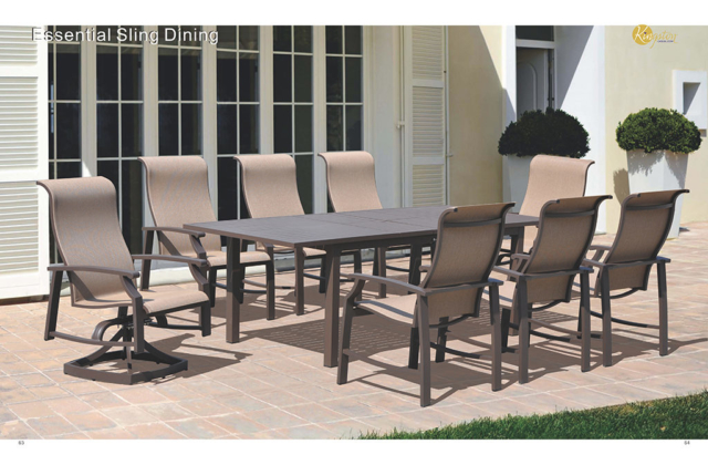 Kingston Casual Outdoor Furniture Essential Sling Dining Set