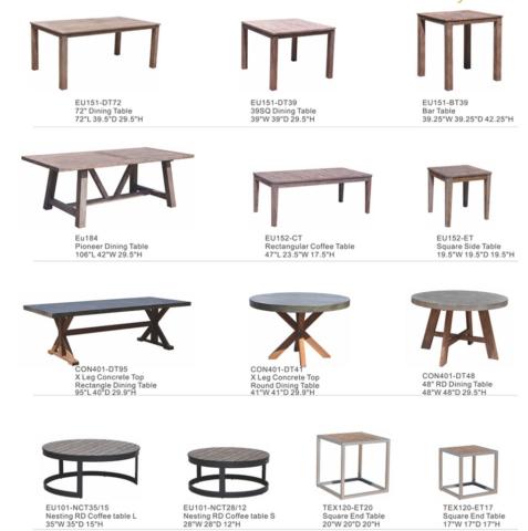 Kingston Casual Eucalyptus Tables