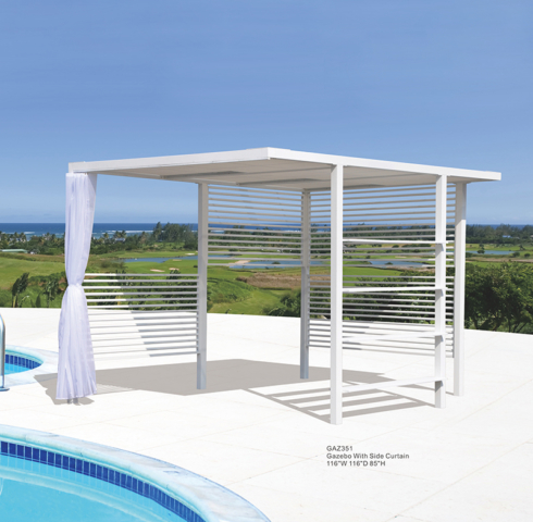 Kingston Casual Gazebo with Side Curtain