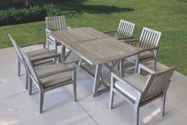 Kingston Casual Outdoor Furniture Surfside Set with rectangle table