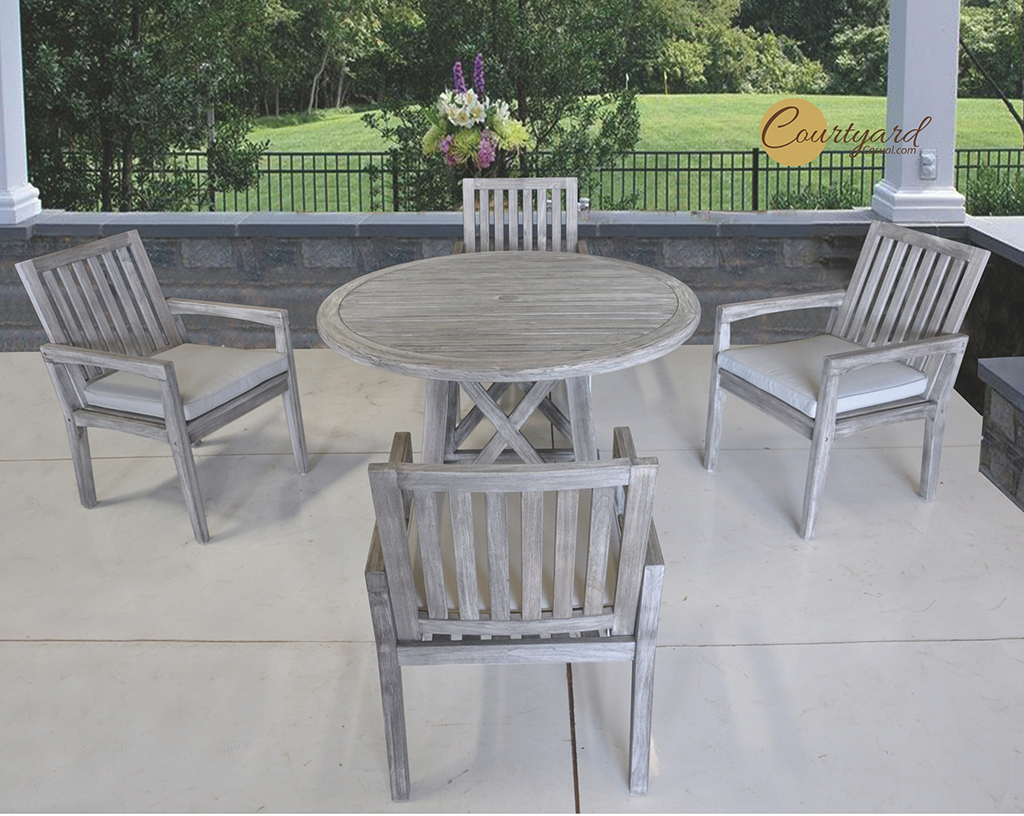 Kingston Casual Outdoor Furniture Surfside Set with round table